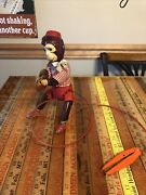 Vintage Japan Spring Clamp Cymbal Playing Tin Monkey Toy Lot A