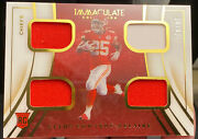 2020 Immaculate Collection Clyde Edwards-helaire Quad Jersey Patch 24/49 Chiefs