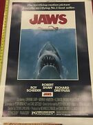 Jaws 1975 Original One Sheet Poster Linen Backed