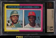 1975 O-pee-chee Lou Brock And Bill North Stolen Base Ldrds 309 Bvg 9.5 Gem Mint