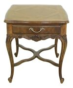 F49196ec Drexel Heritage Country French Style Walnut And Oak End Table