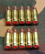 9mm Snap Caps Set Of 10 Brass+fmj Real Weight