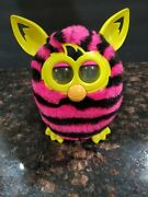 Furby Boom Pink And Black Straight Stripes 2012 Interactive Talking Toy Working