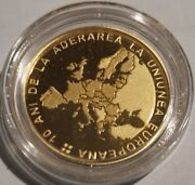 Bnr Coin Set 10 Years Since Romania S Accesion To The European Union