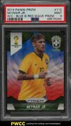 2014 Panini Prizm World Cup Blue And Red Wave Neymar Jr. 112 Psa 9 Mint