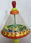 Ohio Art Spinning Top Animals Tin Toy Fantastic Condition   12r