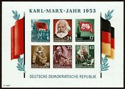 Huskystamps Germany Ddr 144a Imperforate Souvenir Sheet Mnh Marx 11pics