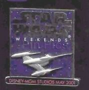 Star Wars Naboo Star Fighter Weekends 2001 Authentic Disney Le Pin