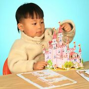 3d Paper Puzzles Set Of Two Castle And Ice Cream Shop - Jigsaw Educational Kids