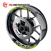 17and039and039 Wheel Rim Decal Stripe Tape Sticker For Kawasaki Z1000 2003-2016 13 14 15