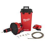 Milwaukee Snake Auger Cable Drive Kit Drain Cleaning Cordless Fuel Electric