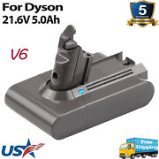 V6 21.6v 5.0ah Battery For Dyson Sv03 Sv04 Sv09 Sv06 Dc58 Dc59 Dc61 Dc62 Animal