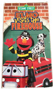 Sesame Street Elmo Visits The Firehouse Vhs Very Rare Hard To Find Vintage