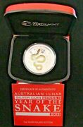 2013 Australian Lunar Year Of The Snake Series Ii-gilded Edition-perth Mint-1oz