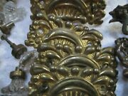 Vintage Group Of Brass And Glass Dresser Drawer/cabinet Hardware, Buy It Now/offer