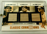 Babe Ruth And Jimmy Foxx And Ted Williams 2004 Fleer / 3 Bat Relics / Andnbsp 9 / 13