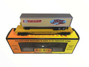 30-76154 Mth Union Pacific Flat Car W/fisher Beer Trailer