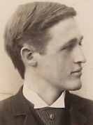 Beautiful Young Man In Profile. So Handsome. Cabinet Card. Aurora, Ill.