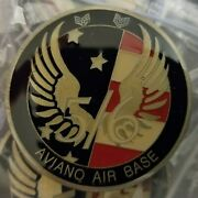 New Air Force Aviano Air Base 5/6 Integrity Challenge Coin Circa 1995