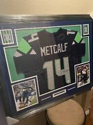 Dk Metcalf Authentic Autograph Framed Jersey Coa Nfl Seahawks