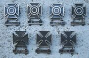 Wwii Rifle, Pistol, Carbine Military Marksman Badges Pins, All Sterling Huge Lot