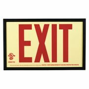 Zoro Select Gran3714 Exit Sign, English, 13 W, 7-1/2 H, Plastic, Red