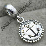 Jewelry Original S925 Sterling Silver Anchorage. Ak Dangle Charm Anchor Charms