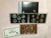2012 Us Silver 14 Coin Silver Proof Set With Original Box And Coa