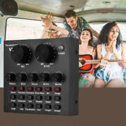 Audio Mixing Sound Card Usb Audio Interface Multiple Effects For Live Music O9n4