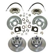 1964-73 Ford Mustang Front Disc Brake Conversion Kit Drum-disc 11.25 Rotors