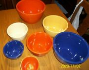 Fiesta Mixing Bowls With Rings In Bottom. 1-7