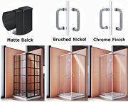 Elegant 36and039and039 X 36and039and039 X 72and039and039 Double Corner Sliding Shower Enclosure Door No Base