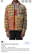 Puffer Italy Menand039s Patchwork Jacket Authentic Size S Button 🔥🔥