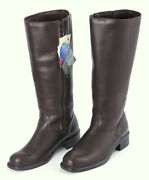 Martino Paradise Women's Knee High Leather Boots 9.5 Wide Calf Brown Canada Nwt
