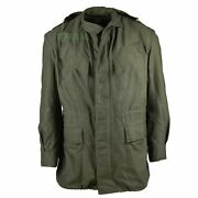 Belgian M-64 O.d. Green Field Jacket Very Good Condition Size L-xl Free Ship