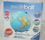 Ravensburger 3d Puzzle Ball World Globe 540 Pieces Display Stand Included New
