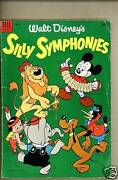 Dell Giant Silly Symphonies 2-1953 Vg Mickey Mouse