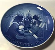 B And G Bing Grondahl Plate Blue 1971 Christmas At Home