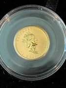 Wow__ Limited Edition 2001 1/4 Ounce Canadian 10 Gold Hologram Coin- W/boxandcoa