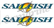 Two Sailfish 16 Inch Stickers For Boat Restoration. Die-cut Ready