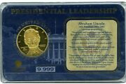 Abraham Lincoln Presidential Leadership Commemorative Coin Proof 79.95
