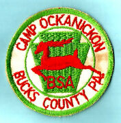 1956 Camp Ockanickon Issue Boy Scout Vintage Official Participants Patch Pa