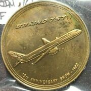 1983 Boeing 757 19th Anniversary Show Bronze Medal - Employee Coin Club