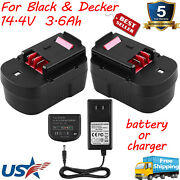 For Black And Decker 14.4v 3.6ah Battery Hpb14 Fsb14 Fs140bx A144ex A1714 /charger