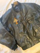 Vintage Genuine Michelob Golden Draft Leather Jacket Collectible Large