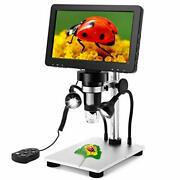 7 Inch Coin Microscope Elikliv 1080p Lcd Digital Microscope With Wired Remote...