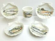 Portmeirion Compleat Angler Fern 4 5 3/8 Shell Shaped Dish 1 3 Drum Bowl