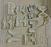 Lot 9 Schall And Co, E And Co, Antique Pewter Mold Ice Cream Butter Chocolate Mould