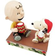 Peanuts Jim Shore Figure Hot Christmas Cocoa Motif Charlie Brown And Snoopy New