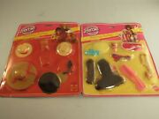 Lot Of 2 Vintage Barbie Finishing Touches Hats And Glasses Hair Fun Nos 1982
